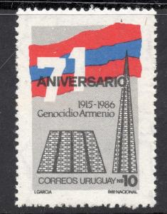 GENOCIDE OF ARMENIA PEOPLE ANIVERSARY MONUMENT FLAG URUGUAY Sc#1214 MNH STAMP