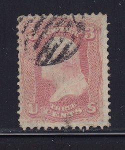 64b F-VF used neat grid cancel with nice color cv $ 150 ! see pic !