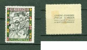 Austria. Poster Stamp Mh.  JOGTN Templar Order