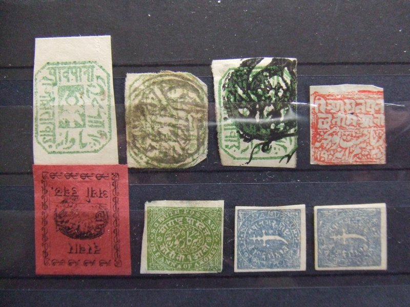 Indian States collection - Nawangar, Poonch, Soruth
