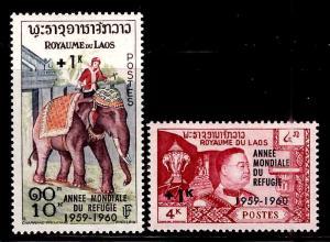 LAOS Scott B4-5 MNH** 1960 World Refugee year 1960  set CV $8.50