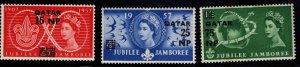 Qatar 16-18 MNH** 1957  Jubilee Jamboree set