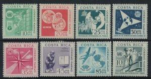 Costa Rica #C321-9*  CV $12.60 Complete set & Souvenir sheet