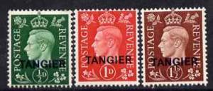 Morocco Agencies - Tangier 1937 KG6 definitive set of 3 v...