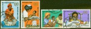 Zambia 1973 W.H.O 25th Anniv set of 4 SG199-202 V.F.U