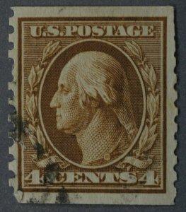 United States #495 4 Cent Washington Coil Used