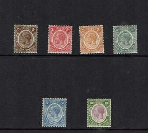 British Honduras: 1922, King George V definitive, new colours, Mint