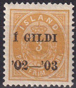 Iceland #49   F-VF Unused   CV $240.00  (Z8736)
