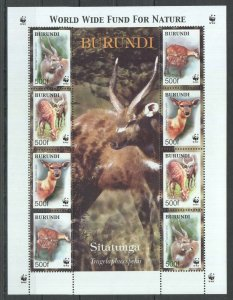 KS BURUNDI WWF FAUNA ANIMALS SITATUNGA 1KB MNH STAMPS