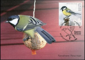 Estonia. 2016. Great Tit (Parus major) (Mint) Maximum Card