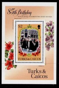 Turks & Caicos 679 MNH Queen Mother 85th Birthday, Flowers