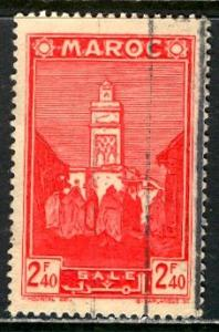 French Morocco 1942: Sc. # 170A; O/Used Single Stamp