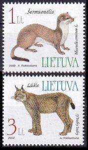 2002 Lithuania 790-791 Fauna 3,50 €