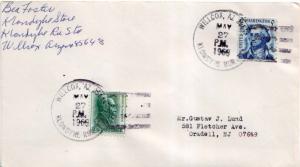 United States Arizona Klondyke Rur. Sta. Willcox 85643 1968 4-bar  Philatelic.