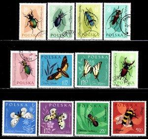 Poland #1029-40 ~ Cplt Set of 12 ~ ( Mint # 1039-40), Ucto, MX