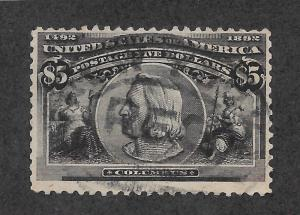 245 Used, $5 Columbian, scv: $1,200  Free Insured Shipping