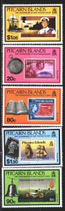 Pitcairn Islands. 1990. 362-66. stamps on stamps. MNH.