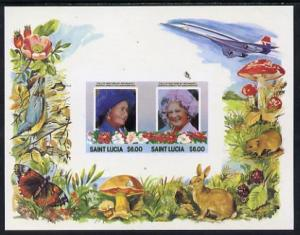St Lucia 1985 Life & Times of HM Queen Mother m/sheet...