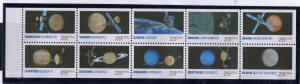 United States Sc 2577a 1991 Space Exploration stamp booklet pane mint NH