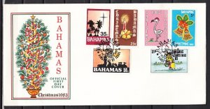 Bahamas, Scott cat. 547-552. Christmas issue. First day cover. ^