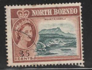 North Borneo Scott 289 Used QE2 stamp