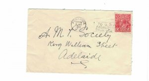 APH1464) Australia 1931 2d Red KGV Die III Small Cover