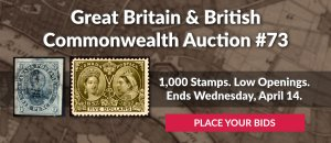 The 73rd Great Britain & Commonwealth Auction