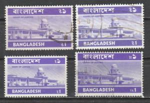 Bangladesh  1973-82  Scott No. 52+82+103+174 (O)