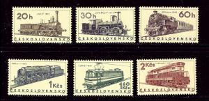 Czechoslovakia 1374-79 MNH 1966 Locomotives