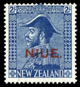 Niue 1927 KGV 2s deep blue (Watermark inverted) MNH. SG 48. Sc 47a.