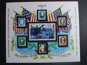 Upper Volta Stamp-1976 Bicentenary of American Revolution CTO MNH-S/S sheet