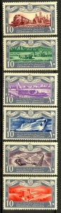 EGYPT 1959 REVOLUTION ANNIVERSARY Set Transporation Themed Sc 467-472 MLH