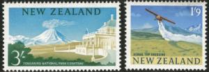 New Zealand Scott 360-1 MH* 1963-4 redrawn stamps CV$10