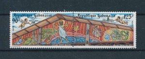 [104725] Gabon 1984 Christmas Weihnachten art paintings Pair MNH