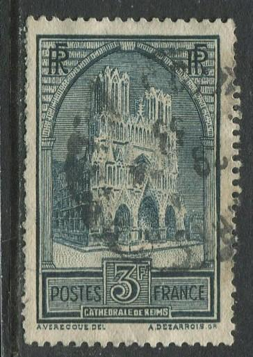 France - Scott 248 - General Issue -1929 - Used -Single 3fr Stamp