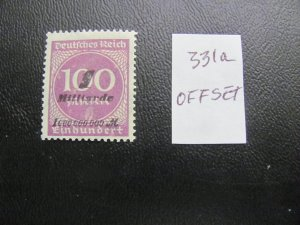 GERMANY 1923 MNH  MINR. 331a INFLATION OFFSET ON BACK $200