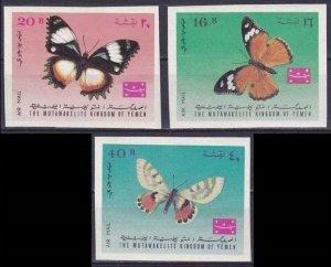 1968 Yemen Kingdom 448-50b Butterflies 8,50 €