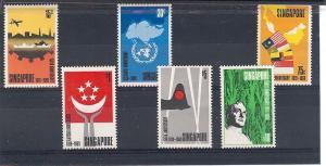 Singapore, 101-06, Various Designs Singles, **Hinged**