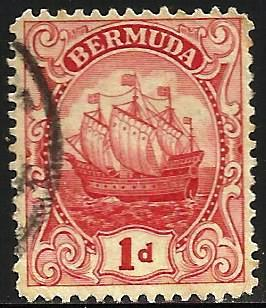 Bermuda 1922 Scott# 83 Used WMK 4