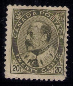 Canada Sc #94 Used Very Lightly Cancelled 20c KGV F-VF