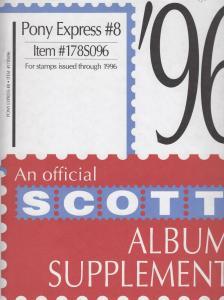 Scott Pony Express Supplement # 8 IssuesThrough 1996