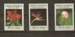 Turkey 1962 flowers var. imperforate