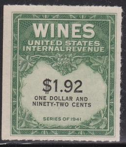 RE152 Nice mint wine stamp cv $ 80 ! see pic !