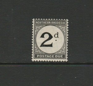 Northern Rhodesia 1929/52 Postage dues 2d MM SG D2