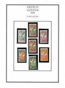 FRENCH GUIANA yr 1929 MLH #109-116