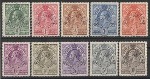 SWAZILAND : 1933 KGV Shields set ½d to 10/-, perf SPECIMEN. MNH **.