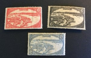 Brunei Sc# 59-61 Complete Set Mint Hinged MH