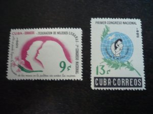 Stamps - Cuba - Scott# 751-752 - Mint Hinged Set of 2 Stamps