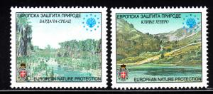 Bosnia and Herzegovina Serb Admin MNH 2001 European Nature Protection labels