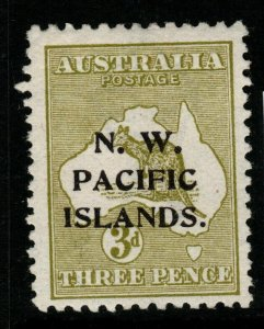 NEW GUINEA SG76c 1915 3d GREENISH OLIVE MTD MINT